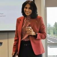 Purnima Padmanabhan, vice-présidente en charge des produits Cloud Management s'est ainsi faite la porte-parole des bouleversements à venir chez VMware avec l'adoption de Kubernetes. (Crédit : S.L.)