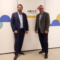 Un duo redoutable désormais à la direction de Nutanix Europe, Moyen-Orient et Afrique : Sammy Zoghlami, senior vice président Sales EMEA, et Sylvain Siou, vice président Systems Engineering EMEA. (Crédit : S.L.)