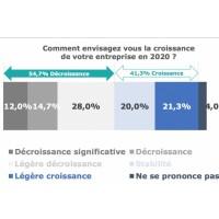Même si elles sont minoritaires, 41,3% des entreprises françaises du logiciel ayant répondu à l'enquête comptent tout de même sur une stabilité de leur activité ou une croissance en 2020. (Crédit : In Extenso F&T)
