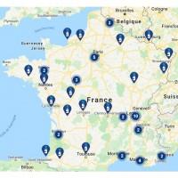 La carte des magasins LDLC en France au 3 juillet 2020. Crédit photo : D.R.