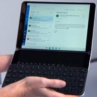 Un terminal mobile Windows 10X avec un vrai clavier. (Crédit : Microsoft)