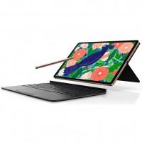 En option, Samsung propose le nouveau Book Cover Keyboard qui, associé au mode DeX (connexion à un écran externe), permettra aux utilisateurs de disposer d'un véritable poste de travail. Crédit photo : Samsung