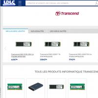 Pour mettre en avant ses produits mémoire et stockage, Transcend a négocié une vitrine dédiée sur LDLC.