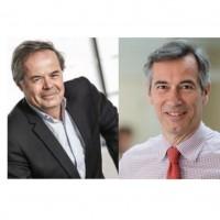 Les présidents de Tech'In France, Pierre-Marie Lehucher, et de Syntec Numérique, Godefroy de Bentzmann, se sont félicités de la prochaine fusion des deux organisations. (Crédit Photo : Beger-Levrault/Syntec Numérique)