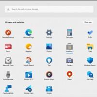 Pas de menu Démarrer dans Windows 10X, mais une écran d'accueil avec les applications interprétées par le navigateur Edge Chromium. (Crédit IDG)