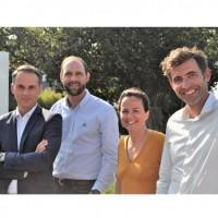 De gauche à droite : Pierre Scherer, Christophe Guirauton, Caroline Martin et Julien Leroy (Crédits : isatech)