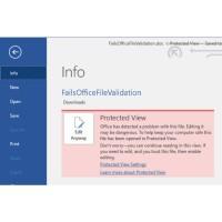 L'utilisation par défaut de Protected View dans IE peut éviter d'être touché par la faille (Crédit Photo: Microsoft)
