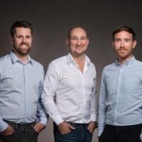 Sylvain Boily, Nicolas Marchal et Benoit Aubas (de gauche à droite) ont co-fondé Wazo en 2017. (Crédit : Hermance Triay)