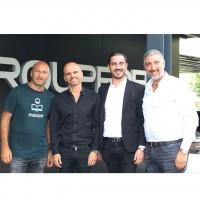 De gauche à droite : Dan Djorno, Groupe DFM ;  Franck Makaci, Groupe DFM ; Mikaël Trabelsi, HM Partners ; et Mikaël Guenni, Groupe DFM