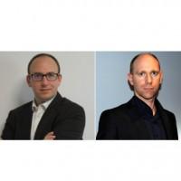 Julien Jean (à gauche), le PDG d'Athena Global Services, et Benoit Grunemwald, expert en cybersécurité au sein de l'entreptrise. Crédit photo : D.R.