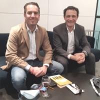 Gianmaria Perancin, président de l'USF (à droite), et Frédéric Chauviré, directeur général de SAP France (à gauche), ont échangé ensemble avec la presse le 7 octobre 2021.