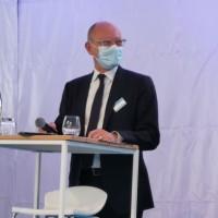 Le président d'Interxion France, Fabrice Coquio, à Marseille en mai dernier pour l'inauguration de MR3 et le lancement de MR4. (Crédit S.L.)