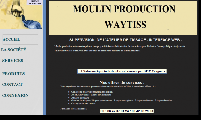 INTERFACE WEB - SUPERVISION D'UN ATELIER DE TISSAGE