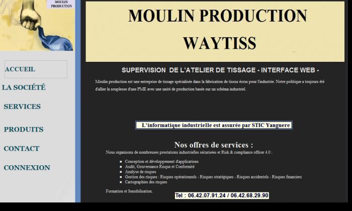 INTERFACE WEB - SUPERVISION D'UN ATELIER DE TISSAGE