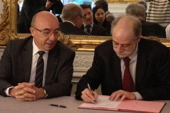 Michel Cosnard, président de l'Inria et Jean Charles Hourcade, directeur général de France Brevets