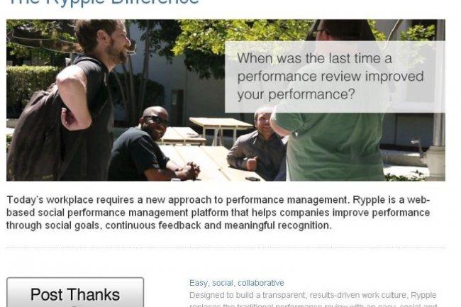 Rypple marque sa différence en cherchant à rénover les méthodes d'évaluation des performances des salariés (crédit : Rypple)