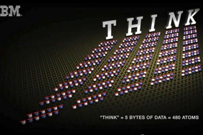 THINK écrit avec 480 atomes de fer Crédit Photo: D.R