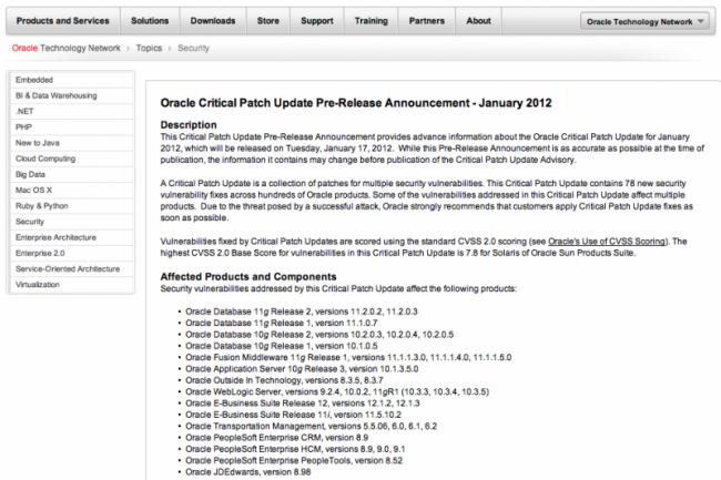 Oracle va livrer 78 correctifs, dont 27 pour MySQL