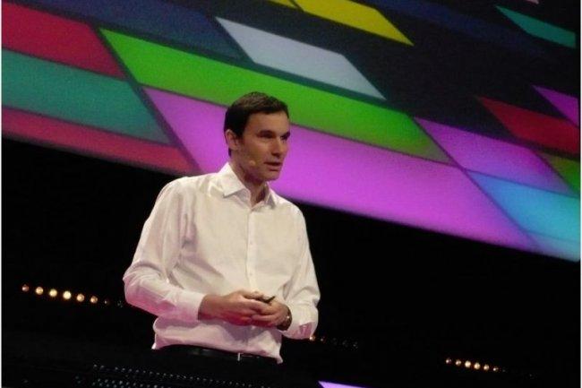Jean Ferré, directeur de la division Développeurs, Plateforme et Ecosystème de Microsoft France, ce matin à l'ouverture des Tech.days 2012 (crédit : M.G.)
