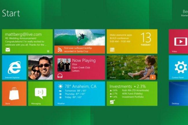 Interface Metro de Windows 8 Crédit Photo: Microsoft