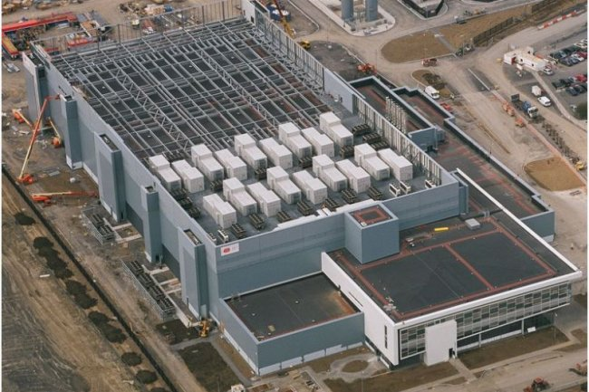 Ci-dessus, le premier datacenter construit par Microsoft à Dublin (source : Microsoft)