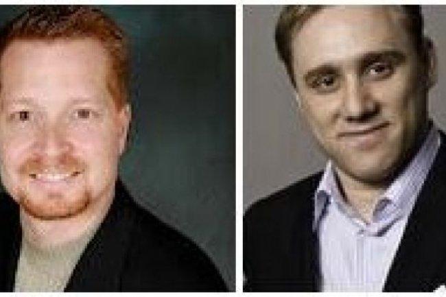 Georges Kurtz, à gauche, et Dmitri Alperovitch, co-fondateurs de la start-up CrowdStrike (crédit : D.R.)