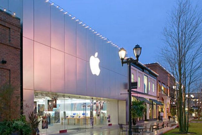 Apple Store du centre commercial d'University Village à Seattle, crédit D.R.