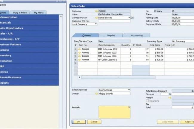 La suite de gestion pour petites entreprises SAP Business One va être proposée en version OnDemand, hébergée par des partenaires certifiés.