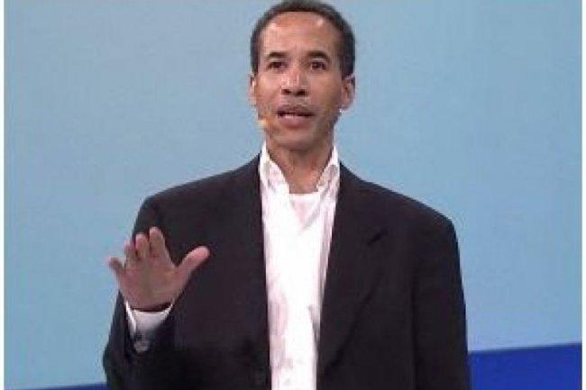 Charles Phillips, pr�sident d'Infor, lors de l'annonce du partenariat avec Salesforce.com sur DreamForce 2011 (cr�dit : Salesforce.com)