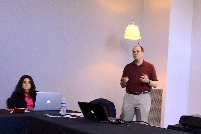 Rebecca Thompson, vice presidente marketing, et Ronald P.Bianchini, CEO d'Avere Systems et ancien co-fondateur de Spinnaker Networks