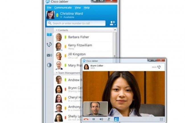 Le logiciel Jabber ajoute des fonctions de messagerie instantanée à différents terminaux (crédit : Cisco)