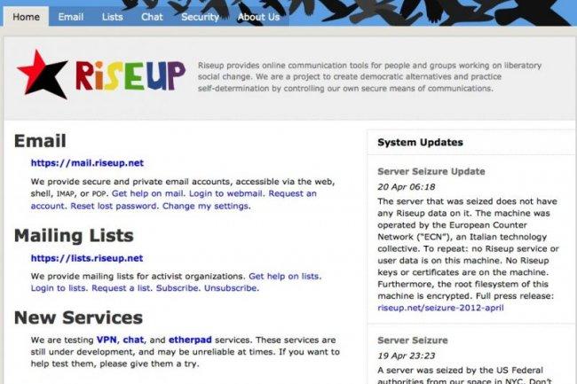 iseup Networks fournit des services d'anomysation à des associations militantes.