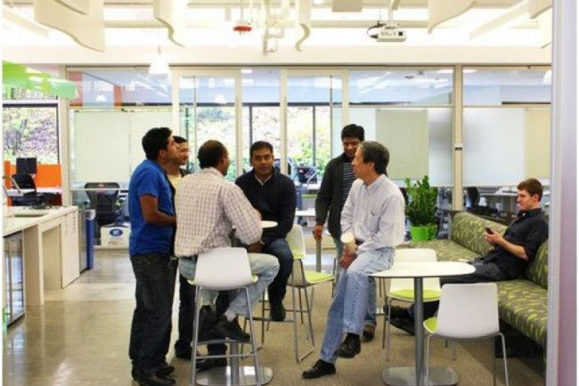 SAP fait la part belle à la lumière naturelle dans les locaux de 3 900 m2 qu'il vient d'ouvrir sur son campus de Palo Alto (crédit photo : D.R.)