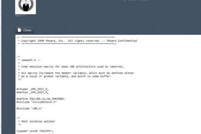 Publication du code source d'ESx de VMware  Crédit Photo: D.R