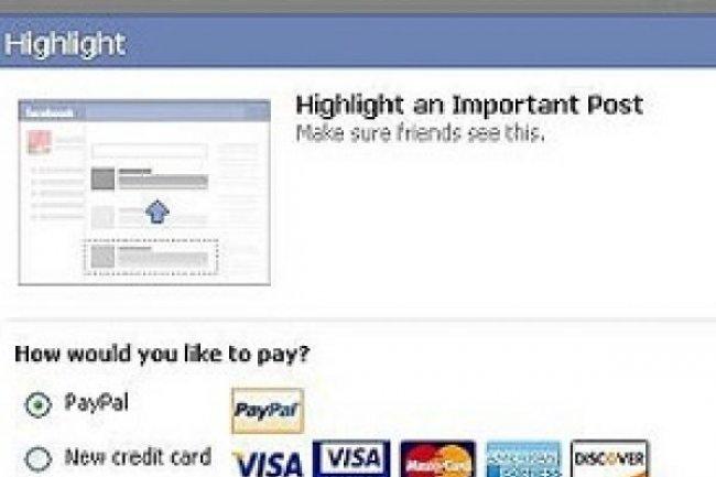 Payer pour mettre ses posts en avant sur Facebook