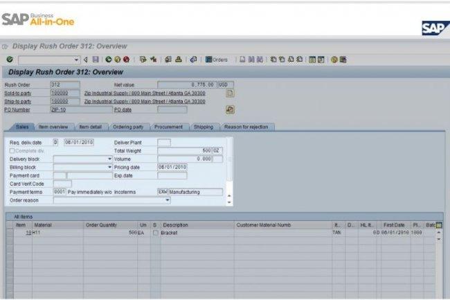 S'adressant aux PME, la solution de gestion All-in-One est d�clin�e de l'ERP phare de SAP (cr�dit : D.R.)