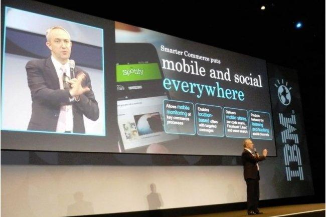 Craig Hayman, DG de l'entité Software Industry Solutions d'IBM, sur le premier SmarterCommerce Global Summit organisé en Europe (crédit : M.G.)