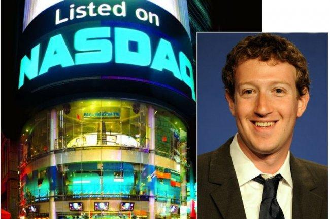 Un premier type de plaintes, certaines en nom collectif, visent Facebook, Mark Zuckerberg lui-même ou d'autres collaborateurs de l'entreprise (crédit photo : Nasdaq et Facebook)