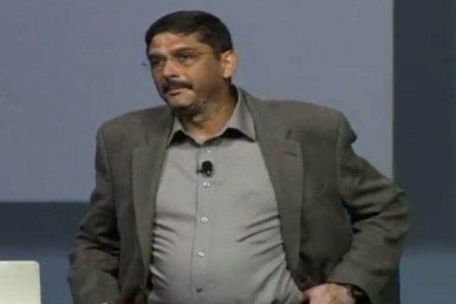 Harish Grama, vice-pr�sident du d�veloppement des produits Rational, lors de la pr�c�dente conf�rence IBM Innovate