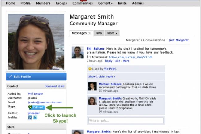 Le logiciel Yammer convoité par Microsoft Crédit Photo: D.R
