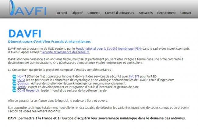 Davfi : 1er antivirus Open Source made in France