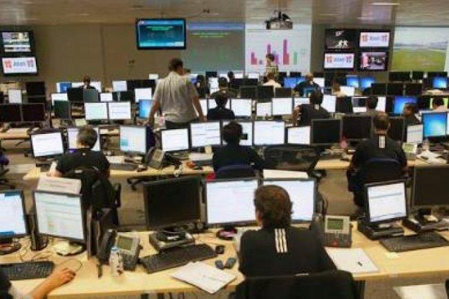 Salle de contrôle Atos pour les JO Crédit Photo: D.R