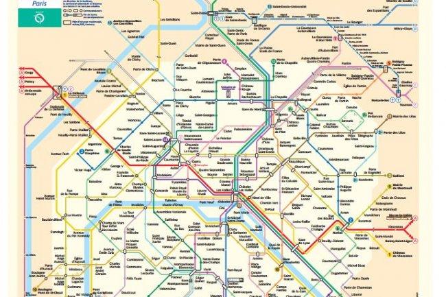 Le plan schématique du métro fait partie des données ouvertes par la RATP qui s'associe à la démarche Open Data.