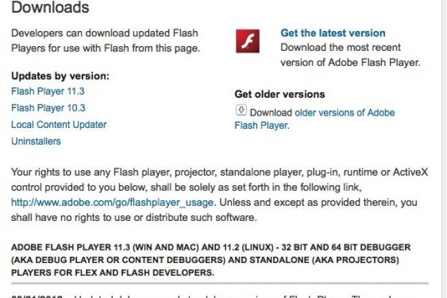 Adobe publie 6 correctifs critiques pour Flash