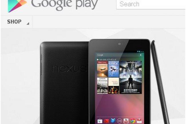 La Nexus 7 en vente plus tôt que prévu sur Google Play