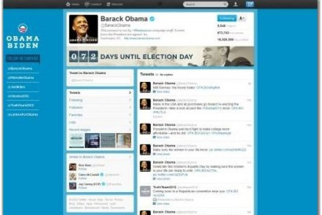 Le compte officiel Twitter de Barack Obama compte près de 19 millions de 'followers', rappelle l'AFP (crédit illustration : D.R.)