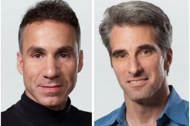 Dan Riccio, à gauche, et Craig Federighi, à droite, grimpent tous les deux d'un échelon chez Apple (crédit : D.R.)