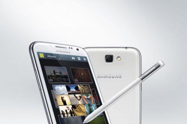 Le Samsung Galaxy Note 2 dispose d'un écran de 5,5 pouces.