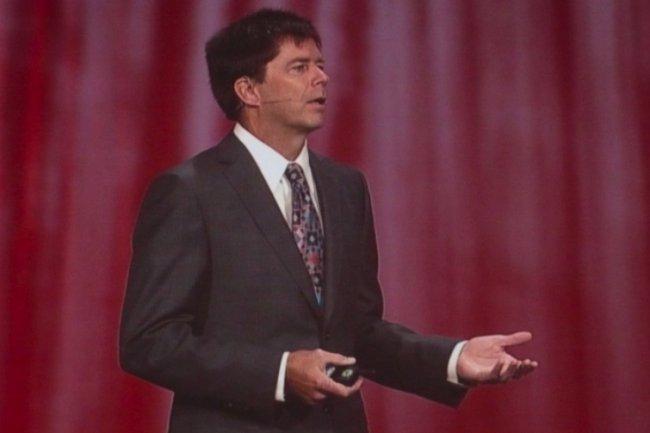 John Fowler, vice-président exécutif d'Oracle pour les systèmes, qui fut l'un des dirigeants de Sun Microsystèmes, responsable du matériel (crédit : M.G.).