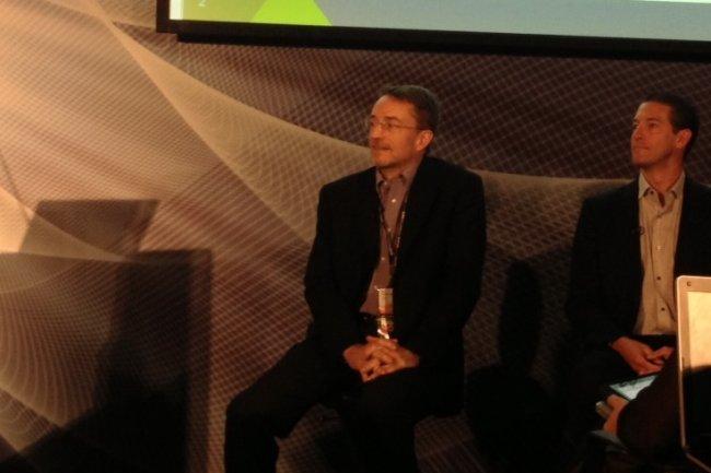 Pat Gelsinger, CEO de VMWare durant la conférence de presse à Barcelone